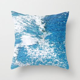 Hard Water Waves Abstract #watercolor #artprints #society6 Throw Pillow