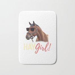 Hay Girl Horse Lover Horseback Riding Bath Mat