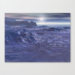 Frozen Sea of Neptune Canvas Print