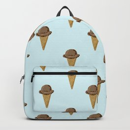 ice cream cones blue food fight apparel and gifts Backpack