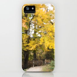 The Bridge Beneath the Yellow Tree iPhone Case
