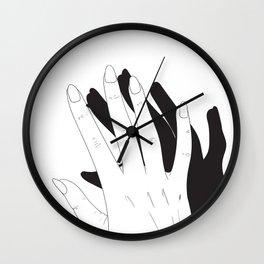 Hand Shadow Wall Clock