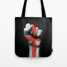 English Flag on a Raised Clenched Fist Tote Bag