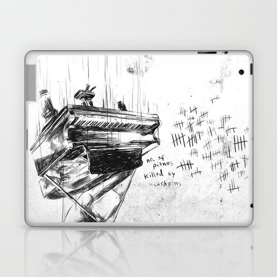 Piano Death Laptop & iPad Skin