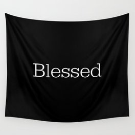 BLESSED Black & White Wall Tapestry