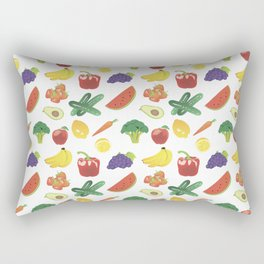 Colorful Fruits and Vegetables Rectangular Pillow