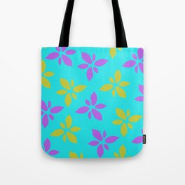 Illustration of flowers(light blue background) Tote Bag