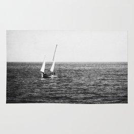 Lake Michigan Sailboat Rug