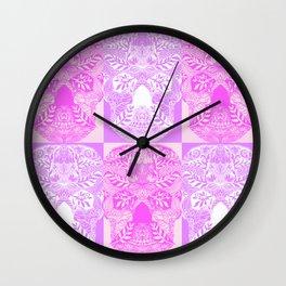 Pink and Purple Sugar Skulls Collage Wall Clock