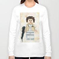 princess leia Long Sleeve T-shirts featuring Lego Princess Leia by Toys 'R' Art
