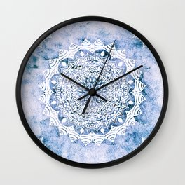 BLUE SKY MANDALA Wall Clock