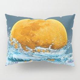FALLING MOON OCEAN SCI-FI ILLUSION Pillow Sham
