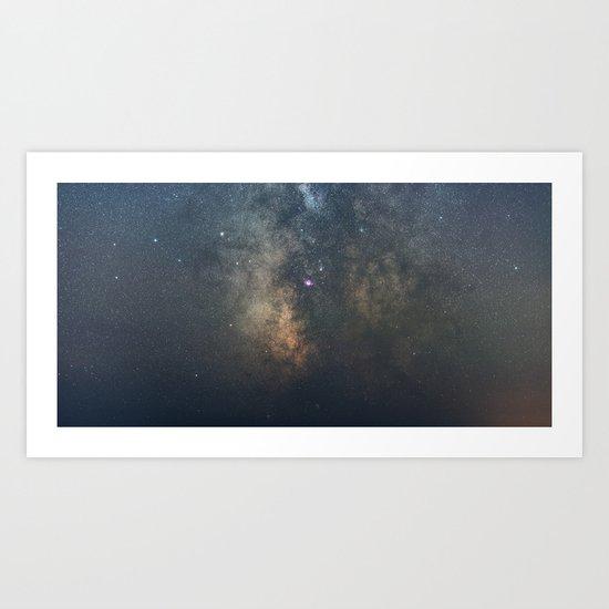 The Galactic Center Art Print