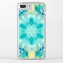 watercolor tie dye Clear iPhone Case