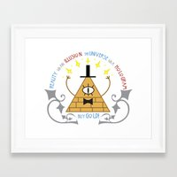 bill cipher Framed Art Prints featuring Bill Cipher by Grace T