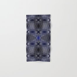 Three Colliding Circles in Black and Blue Hand & Bath Towel