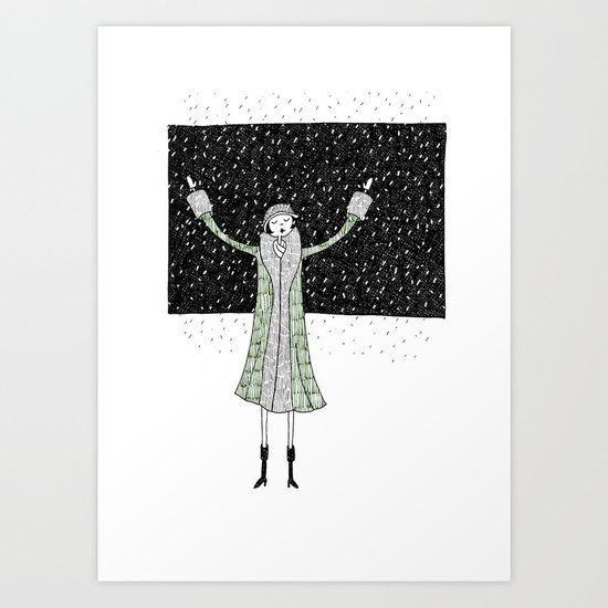 Eloise loves winter Art Print