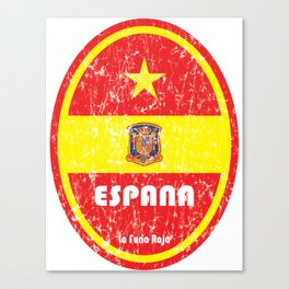 World Cup Football 8/8 - Espana (Distressed) Canvas Print