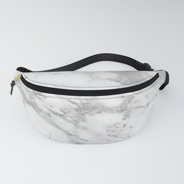 Marble - Silver and White Marble Pattern Fanny Pack