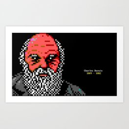 Charles Darwin Portrait Art Print