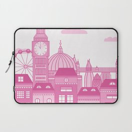 London Skyline Pink Laptop Sleeve