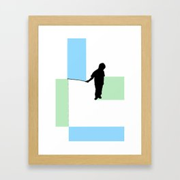 Fishing for Color Framed Art Print