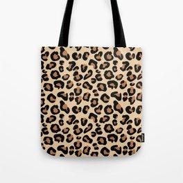 Leopard Print, Black, Brown, Rust and Tan Tote Bag