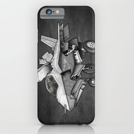 F35 Fighter Jet Airplane - F-35B Lighting II Joint Strike Fighter Cartoon iPhone Case