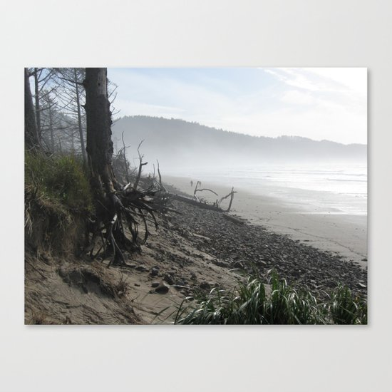 Misty Morning Walk Canvas Print