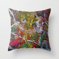 hip hop Throw Pillows featuring HIP HOP MUSIC  DESIGN... by T.H. DESIGNZZ