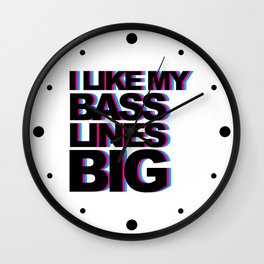 Bass Lines Big Music Quote Wall Clock
