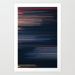 Glitched v.4 Art Print