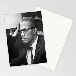Malcolm X Poster Stationery Cards