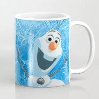 olaf Mugs featuring OLAF by DisPrints