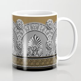 Roman Arches Black Brown Coffee Mug