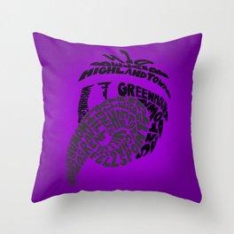 Raven Nation Throw Pillow