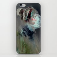 portrait iPhone & iPod Skins featuring Self portrait by Feline Zegers