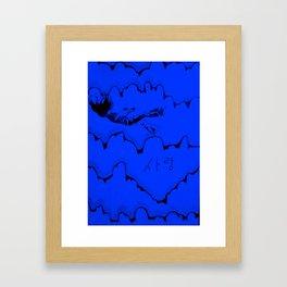 Falling in Love (blue) Framed Art Print