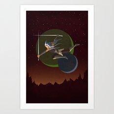 Ahsoka Attacks Art Print