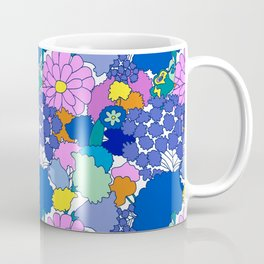 Far-Out 60's Floral in White Coffee Mug