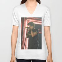 zayn malik V-neck T-shirts featuring Zayn Malik by Halle