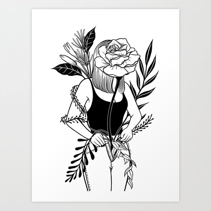Let me bloom Ⅱ Art Print