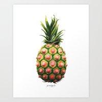 kozyndan Art Prints featuring Pinipple by kozyndan