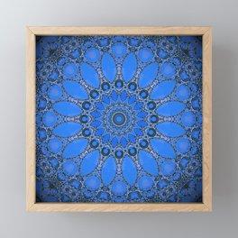 Bohemian Blue Mandala Design Framed Mini Art Print