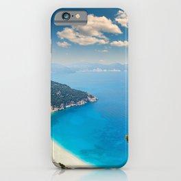 The famous beach Myrtos in Kefalonia island, Greece iPhone Case