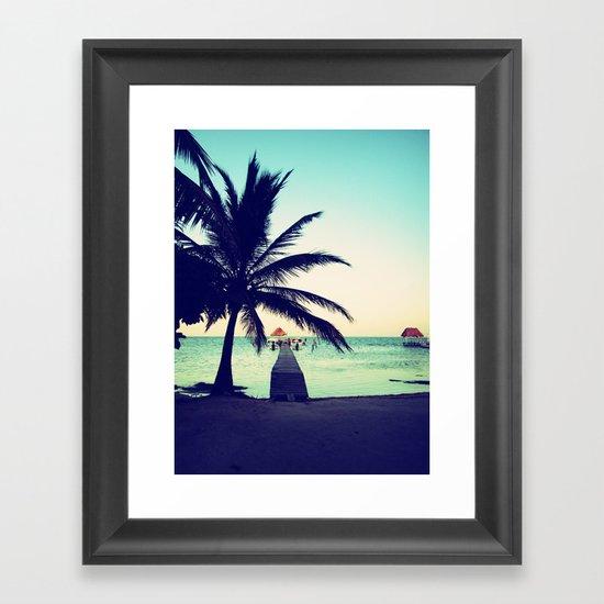Road to paradise Framed Art Print