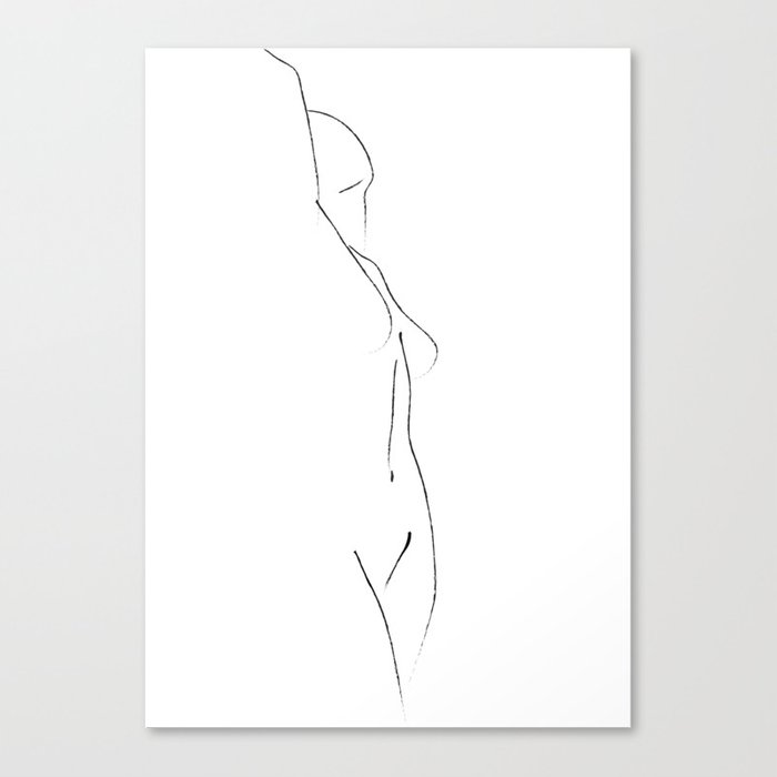 Minimal Line Drawing 3 Leinwanddruck