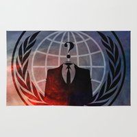 anonymous Area & Throw Rugs featuring Anonymous by Sney1
