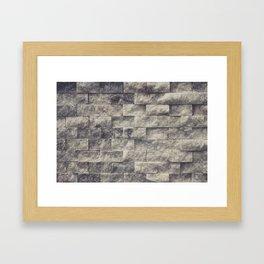 Layered Rustic Rock Framed Art Print