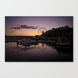 Torquay Harbour Sunset Canvas Print